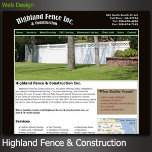 Highland Fence Website Design